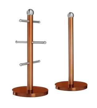 Copper  Mug Tree & Towel Holder Set.