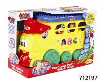 Push & Pull Zoo Block Train 26 Pcs.