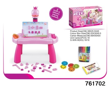 Projector 4 In 1 Activity Desk In Pink