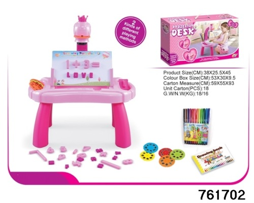 Projector 2 In 1 Activity Desk In Pink