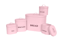 C&C 5-Piece Pastel Pink Oval Storage Set