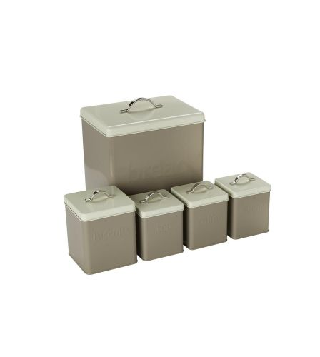 5-Piece Storage Set Taupe