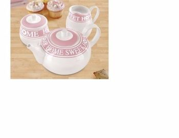 3-Piece Tea Set Pink