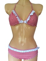 Girls Gingham Bikini/Swimwear. Ages 7-16Yrs