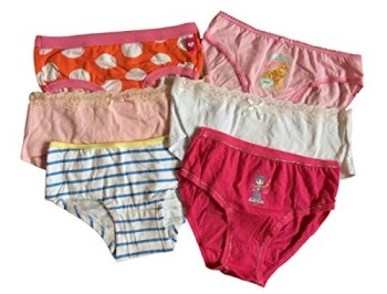Girls Mixed Pack of 6 Pants/Knickers/Briefs.