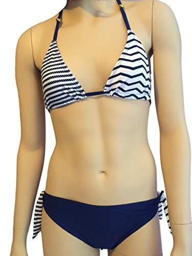 Girls Navy Stripe Bikini/Swimwear.
