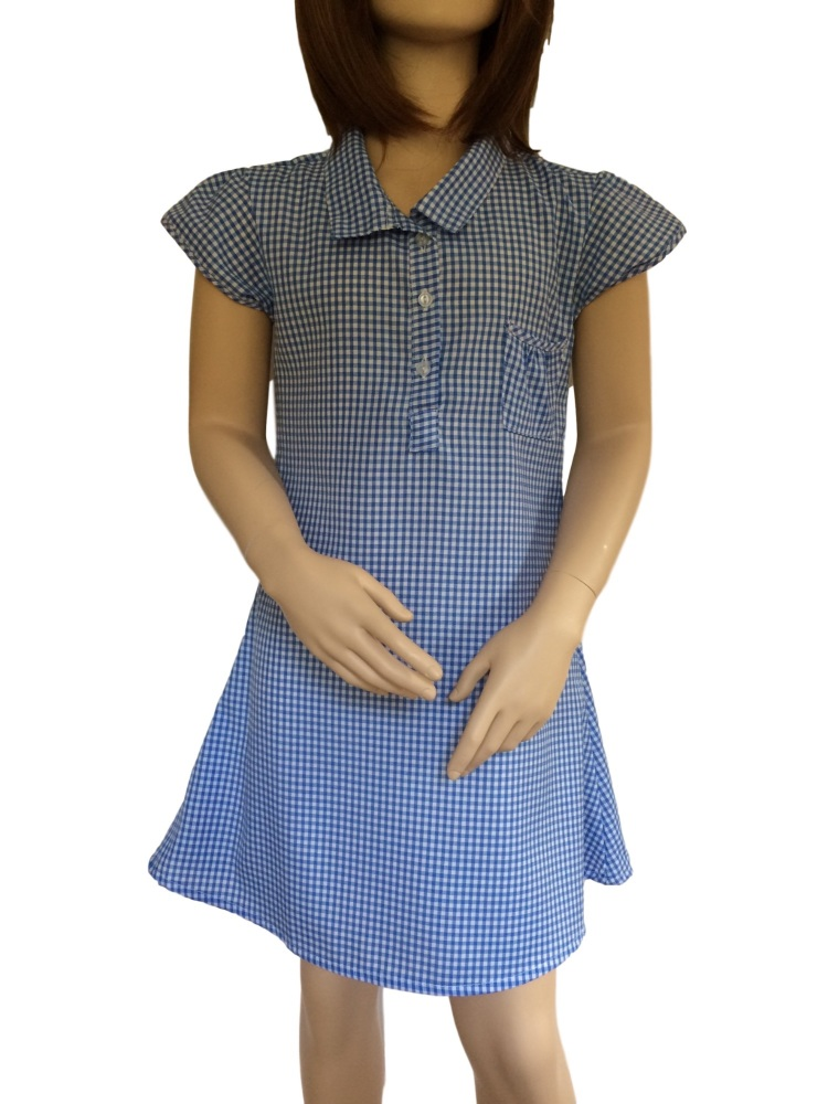 Girl's School Gingham Summer Dress
