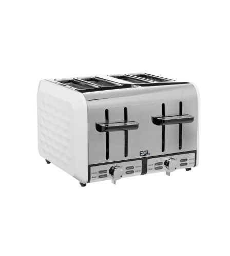 White Diamond 4 Slice Toaster