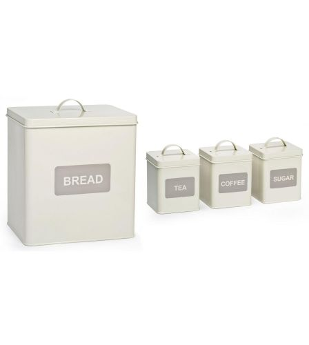 4 Piece Storage Set Cappuccino