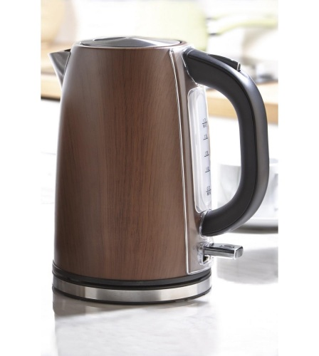 Stainless Steel Wooden Finish Jug Kettle