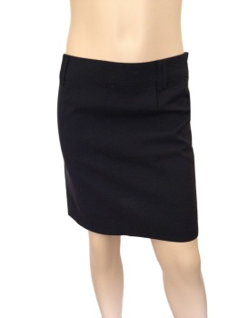 Girls Black School Skirt with pink lining