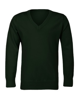 Boys Girls Unisex Kids Bottle Green School Jumper