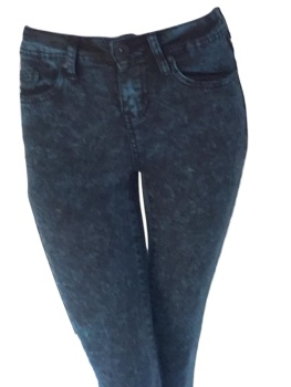 Firetrap Women's Zip Leg Skinny Jegging's Mottled Blue.
