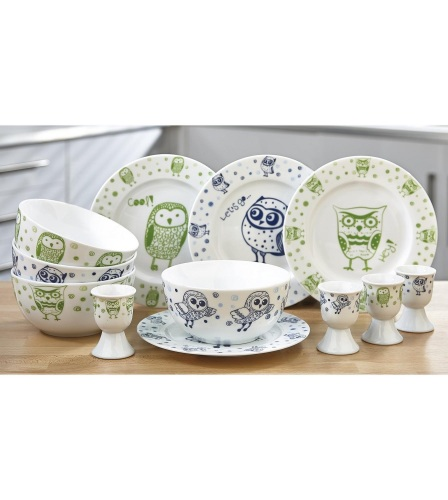 12-Piece Owl Breakfast Set