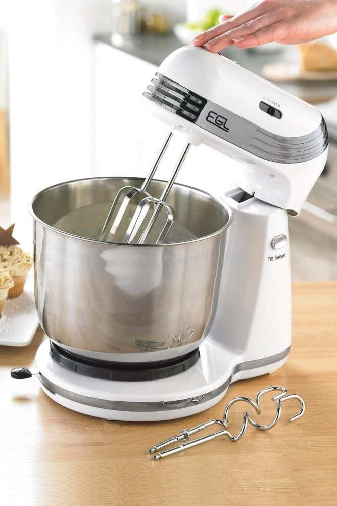 EGL White Compact Stand Mixer