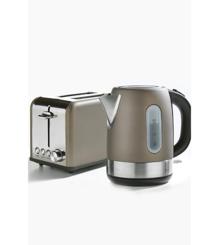 Bronze Toaster and Kettle Set