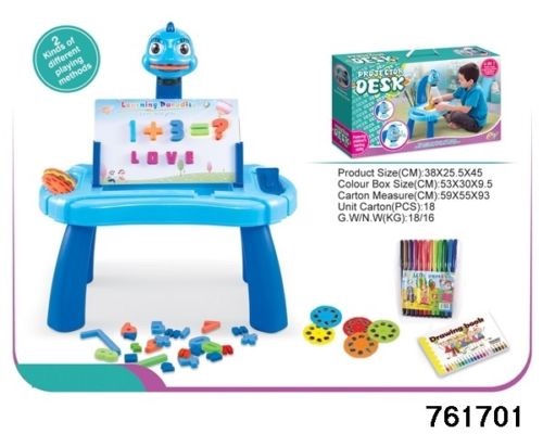 Projector 4 In 1 Activity Desk In Blue