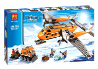 Urban Arctic Rescue Plane Building Brick/Block Set, Compatible Building Bricks 391 Pcs