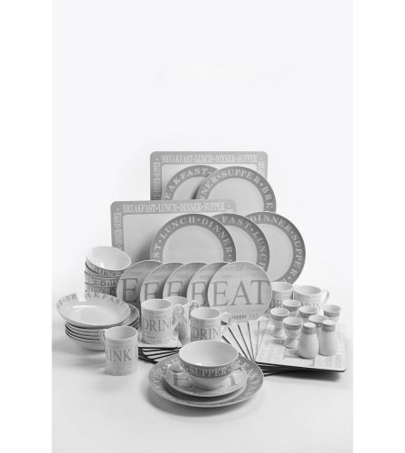 52-Piece Script Combination Dinner Set