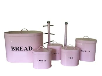 7 - Piece Pink Kitchen Storage Set