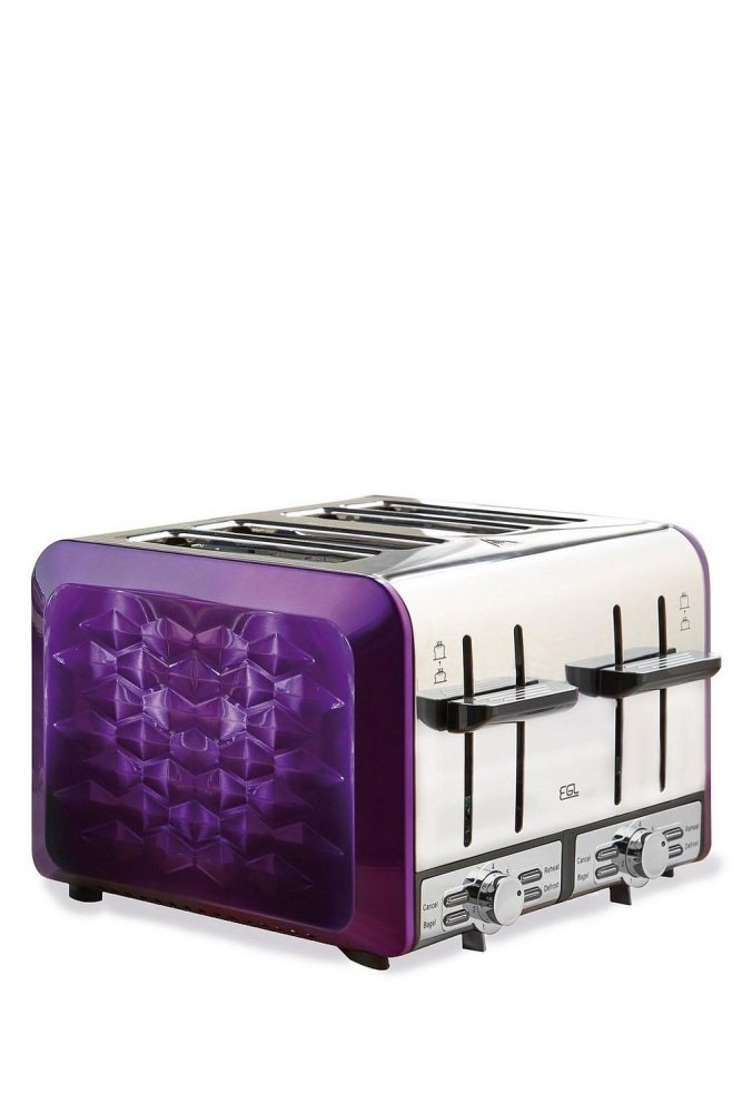 Purple 4-Slice Diamond Toaster