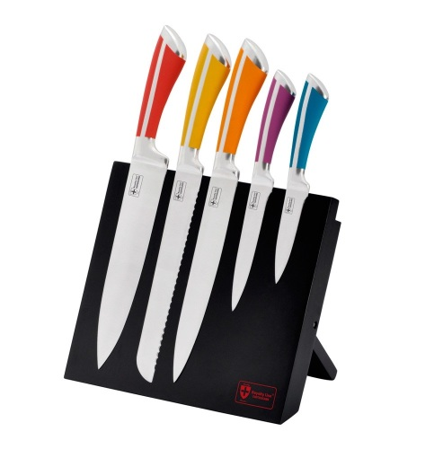 5 PCS Non-Stick Coating Knife Set With Stand RL-MG5C