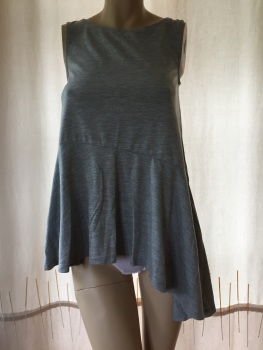 Ladies South Asymmetric Tunic Grey Marl