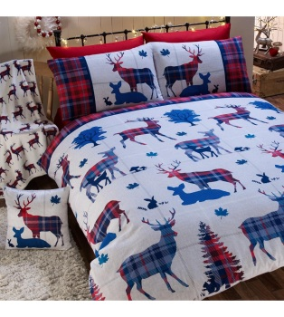 Stag Brushed Cotton Duvet Set Double