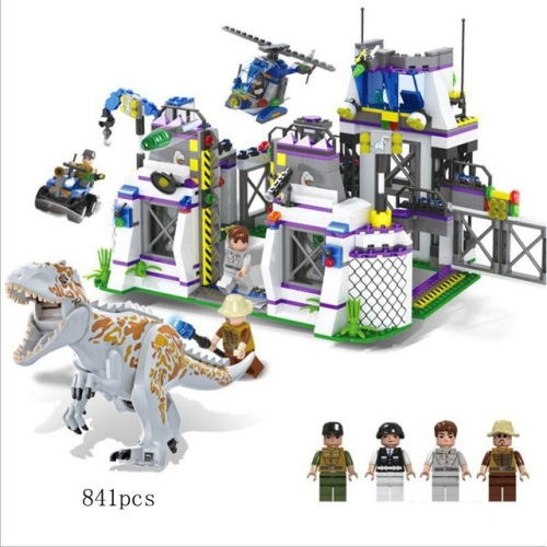 Jurassic Legend Dino Escape Building Brick/Block Set, Compatible Building B