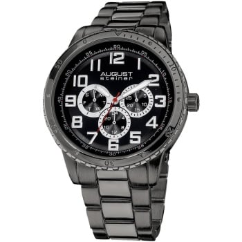 August Steiner Men's AS8060BK Watch