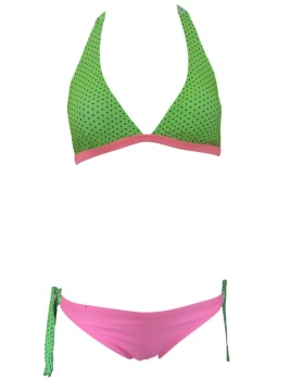 Girls Green & Pink Bikini/Swimwear. Ages 5-14 Years