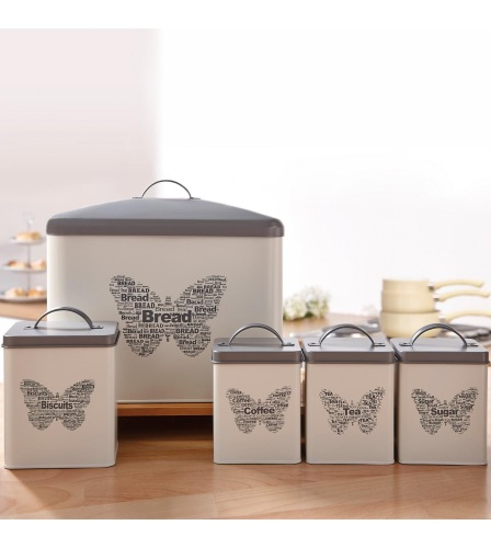 5-Piece Butterfly Canister Set