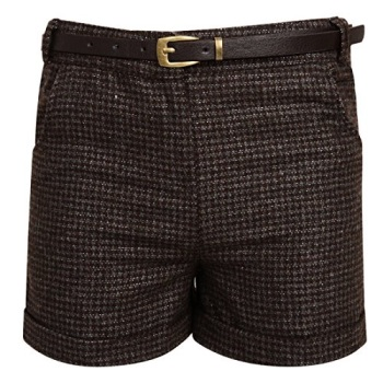 Girls Brown Belted Shorts