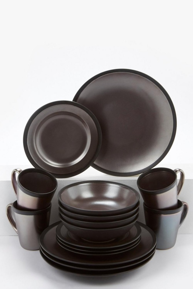 16-Piece Iridescent Dinner Set
