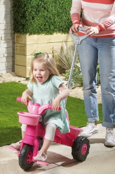 My First Pink Trike with Parent Handle …