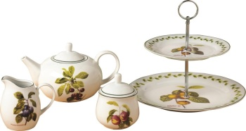 4 Piece Orchard Fruit Tea Set