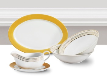 5 Piece Gold Majestic Serving Set