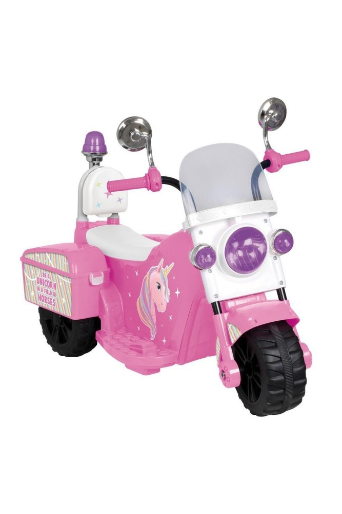 Pink Ride-On Electric 6V Unicorn Bike