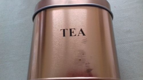 C&C Stylish 5-Piece Copper Coated Kitchen Oval Dented or marked Tea Caddy