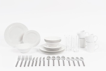 36 Piece Starter Dinnerware Set, Service for 4