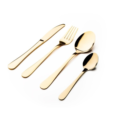 Gold 16 Piece 18/0 Stainless Steel Cutlery Set