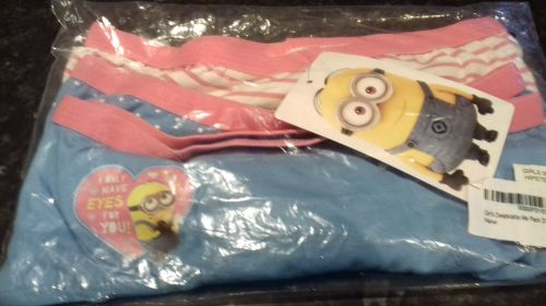 Girls Despicable Me pack of 3 Hipsters 10 - 11 Years
