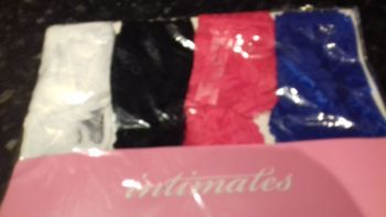Intimates Ladies Thong Mixed Colours size 8 XS