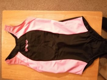 Girls School Swimsuits Black & Pink 9-10 years.