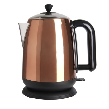 Copper Effect Cylinder Kettle 1.7L