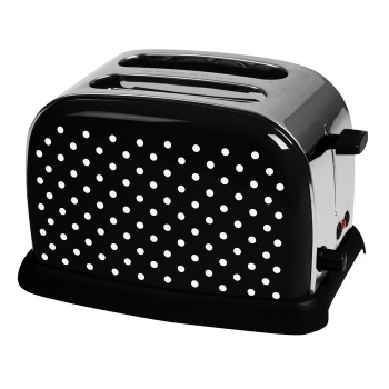 2-Slice Black Toaster with Dots
