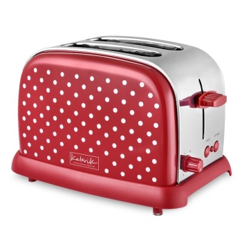 2-Slice Red Toaster with Dots