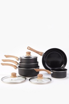 5-Piece Black Pan Set …