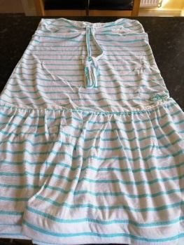 Ocean Pacific Ladies Dress in White/ Blue size 10.