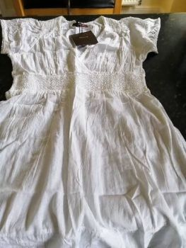 Savoir Petite Crushed Cotton Tunic White size 8